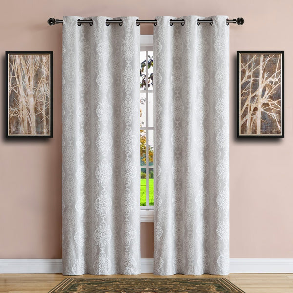 Warm Home Designs 100% Blackout Ivory Insulated Curtains in 4 Sizes