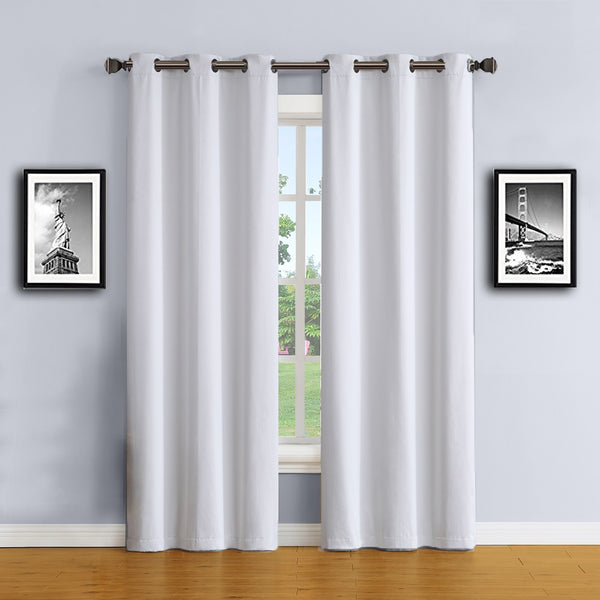 Warm Home Designs White Color 100% Blackout Curtains & Patio Panels