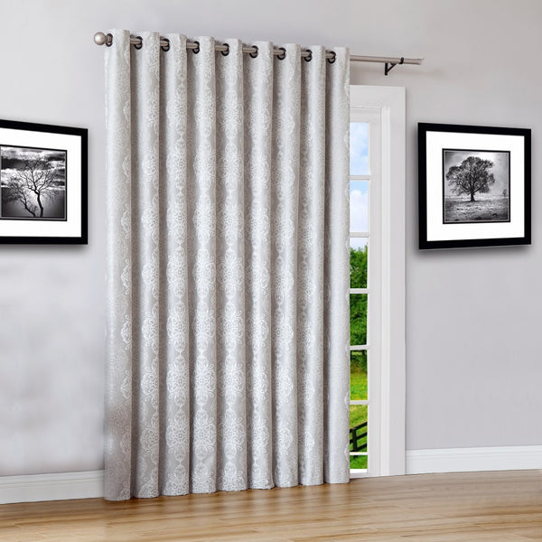 "Warm Home Designs 110"" Wide Ivory 100% Blackout Patio Door Curtains"