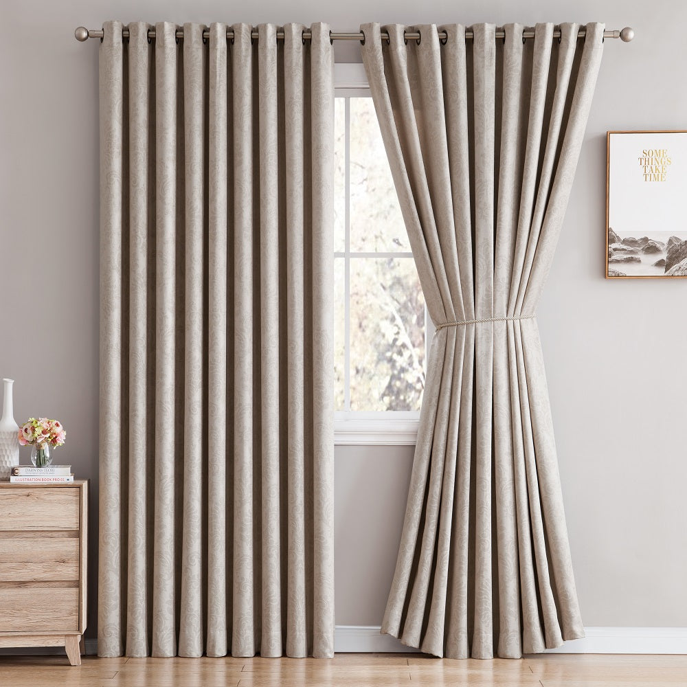 Love the Look and Feel of Your Curtains - Save on Warm Home Designs Embossed Textured Insulated Energy Efficient White Ivory Blackout Curtains in 9 Sizes.