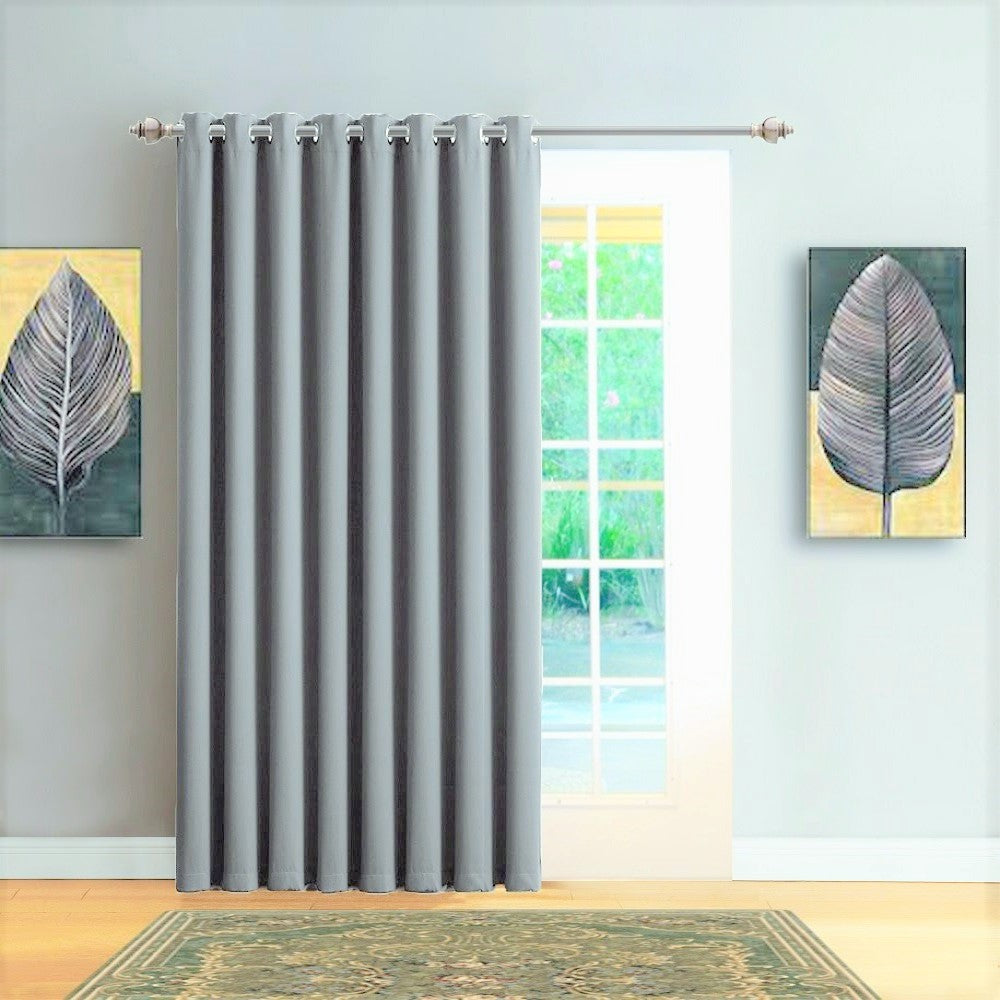 Warm Home Designs Extra Wide Light Grey Patio Door Curtains U0026 Wall To  ...