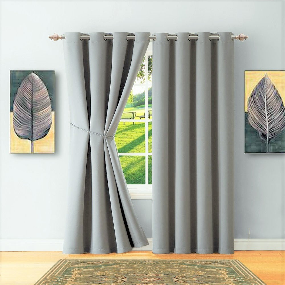 Warm Home Designs Silver Blackout Curtains Valance