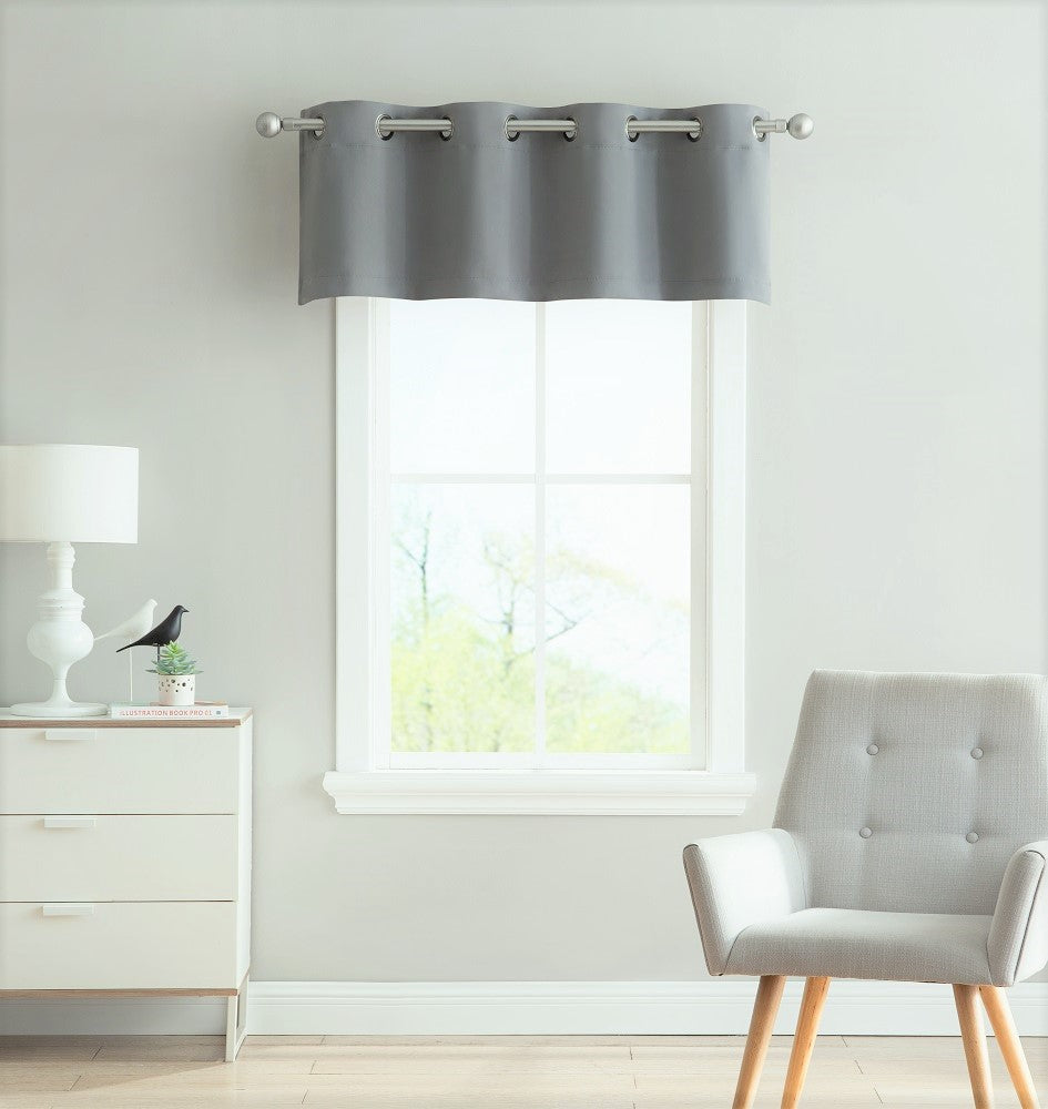Warm home designs light grey blackout curtain panels pairs valances with tie backs