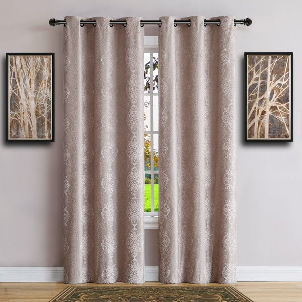 Warm Home Designs 100% Blackout Linen Insulated Curtains in 4 Sizes