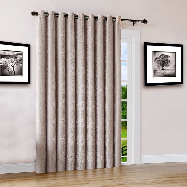 "Warm Home Designs 110"" Wide Linen 100% Blackout Patio Door Curtains"