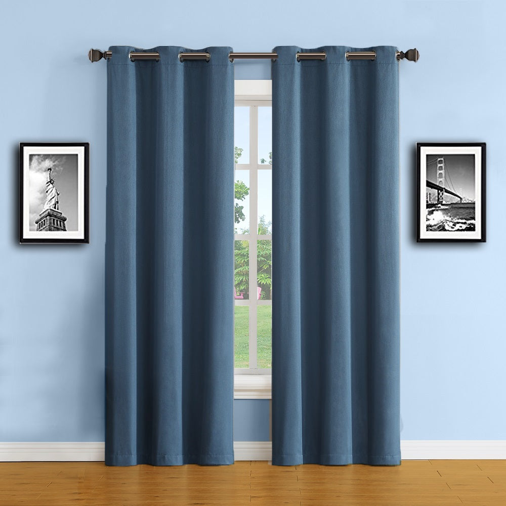 Warm Home Designs Midnight Blue (Tea) 100% Blackout Curtains & Panels