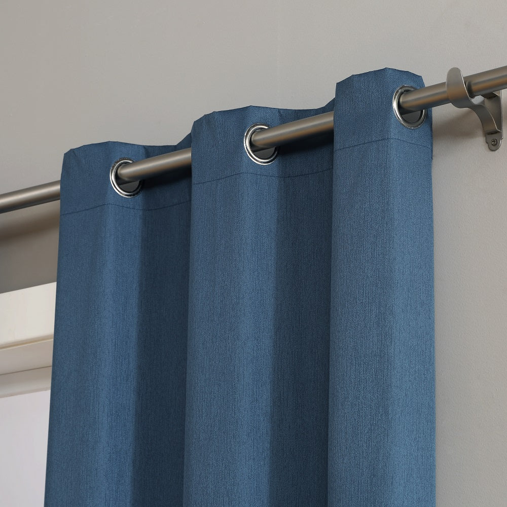 Warm Home Designs 100% Blackout Insulated Thermal Bedroom Curtains In  Midnight Blue Color