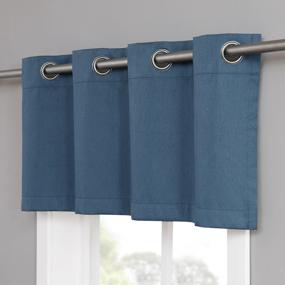 Warm Home Designs Midnight Blue Teal Blackout Valance Panels