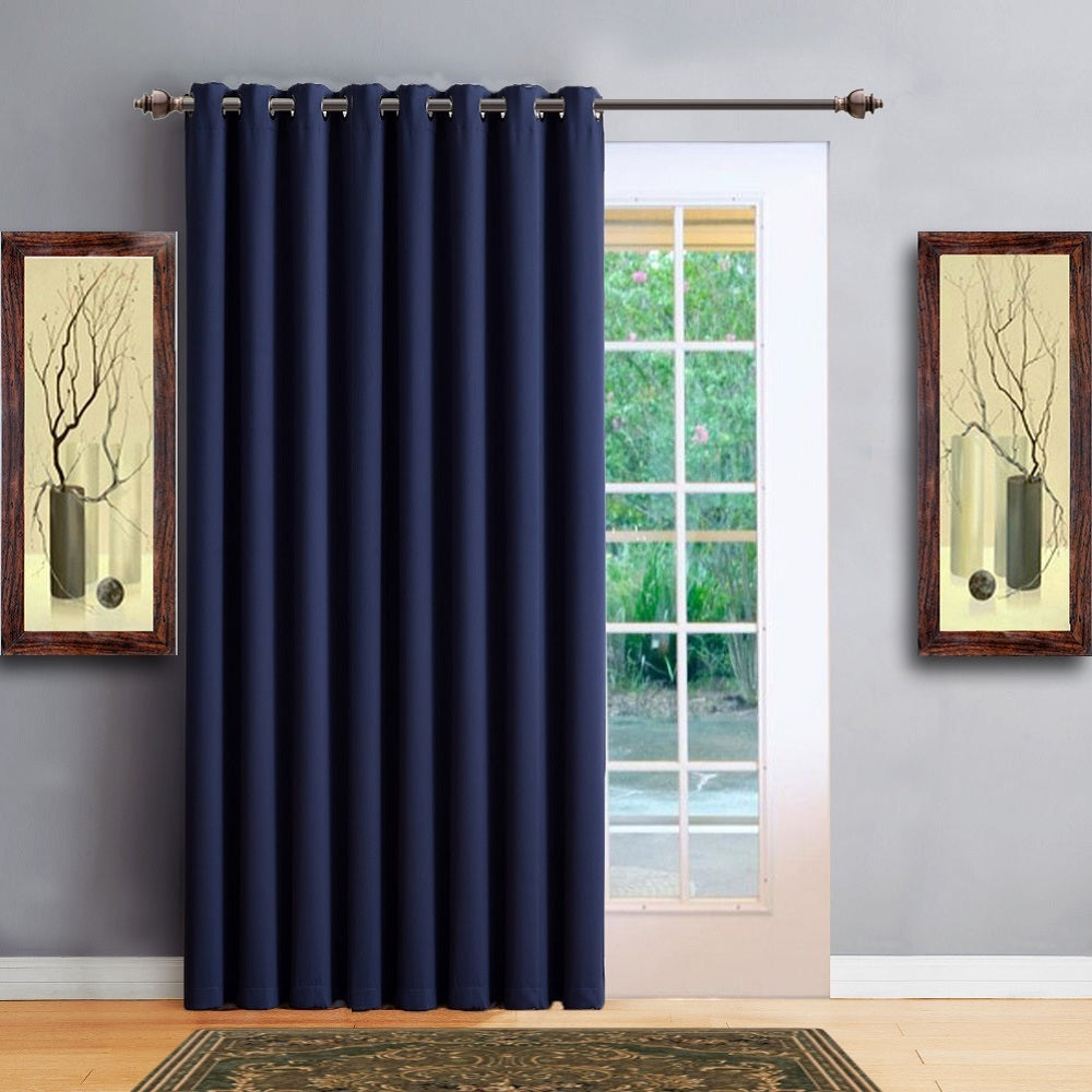 "Warm Home Designs 102"" Wide Navy Room Dividers & Patio Door Curtains"