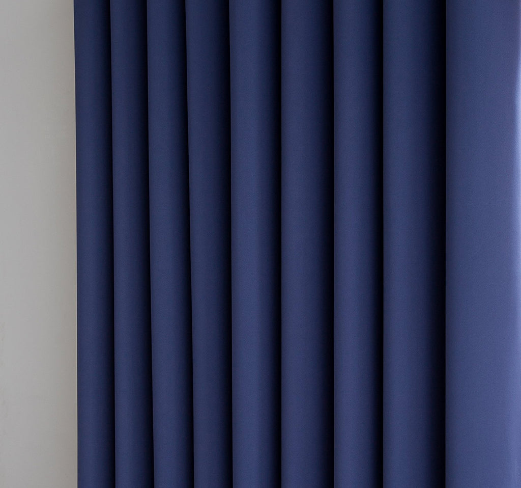 Warm Home Designs Extra-Wide Navy Blue Patio Door Curtains & Wall-to-Wall Room Dividers