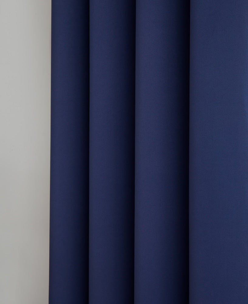 Warm Home Designs Pair of 2 Navy Blue Room Darkening Curtains with 2 Tie-Backs in 63, 84, 96 & 108 Inch Length
