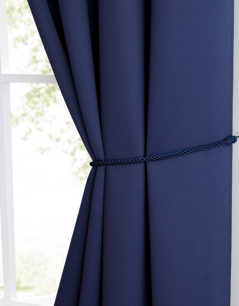 Wonderful Warm Home Designs Navy Blackout Curtains, Valance Scarves, Tie  CO94
