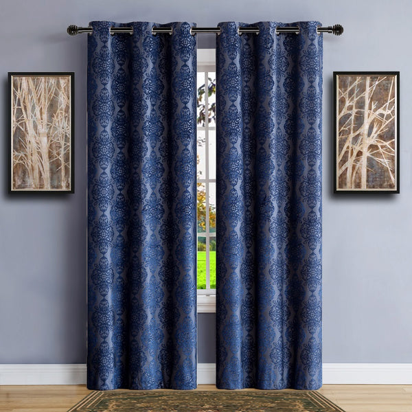 Warm Home Designs 100% Blackout Navy Blue Insulated Curtains - 4 Sizes