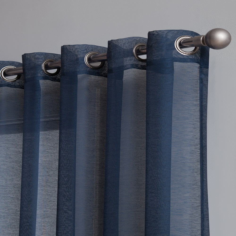 "Affordably Priced 102"" x 84"" or 102"" x 95"" Extra-Wide Navy Blue Patio Door Curtains. Can Be Used as Sliding Door Drapes, Extra Large Curtains or Room Dividers."