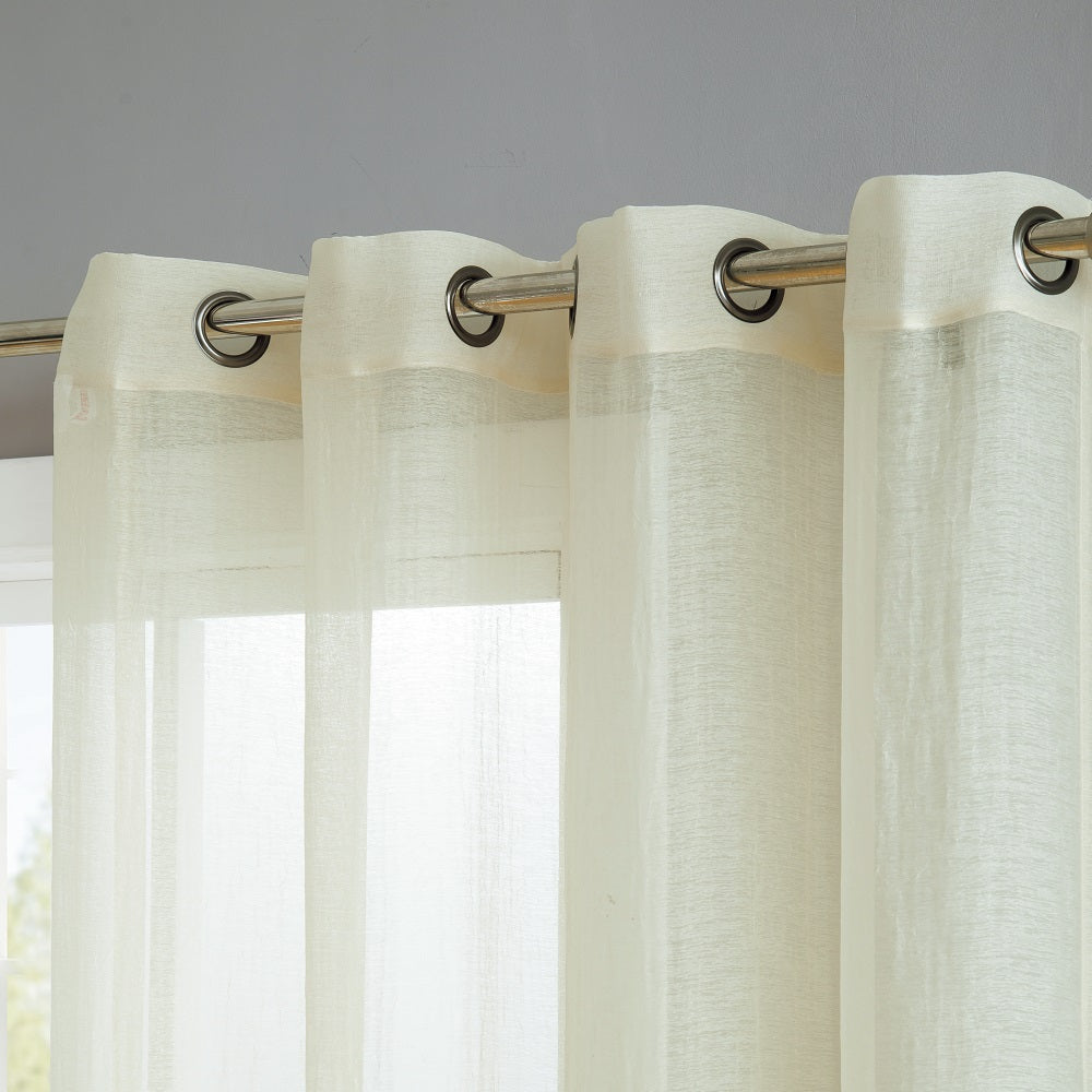 Warm Home Designs Semi-Sheer Beige Crushed Window Curtain Panels in 9 Sizes