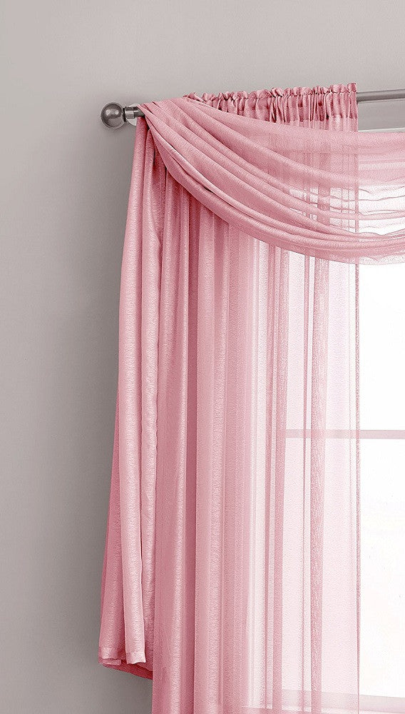 Warm Home Designs Premium Sheer Rose Pink Window Scarves or Rod Pocket Sheer Baby Pink Curtains