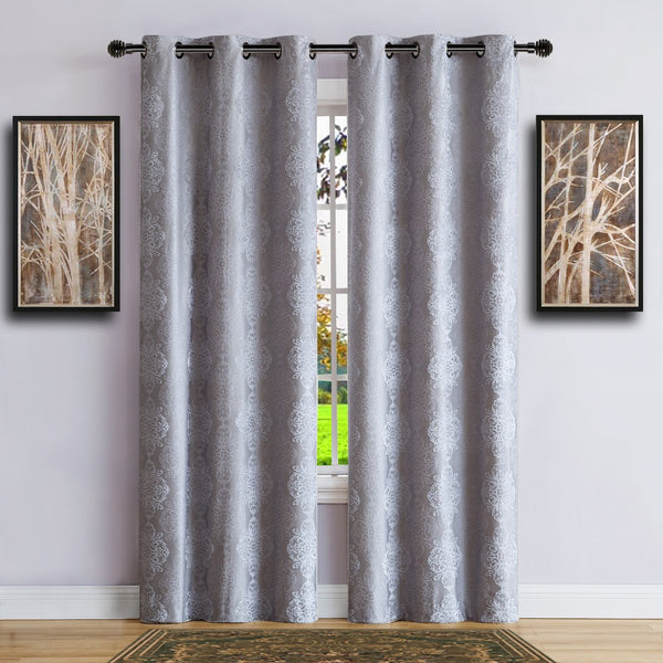 Warm Home Designs 100% Blackout Silver Insulated Curtains in 4 Sizes