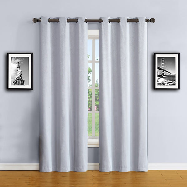 Warm Home Designs Silver Color 100% Blackout Curtains & Patio Panels