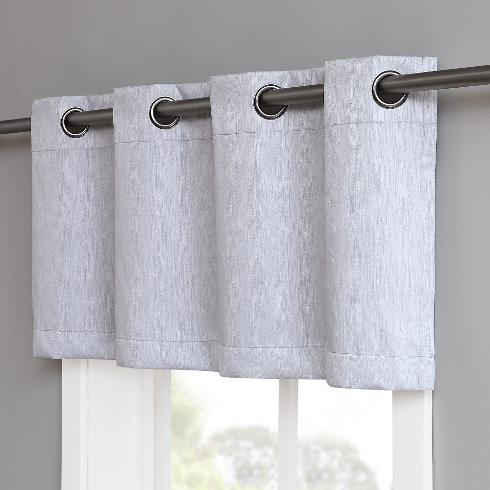Warm Home Designs Silver Blackout Valance Curtain