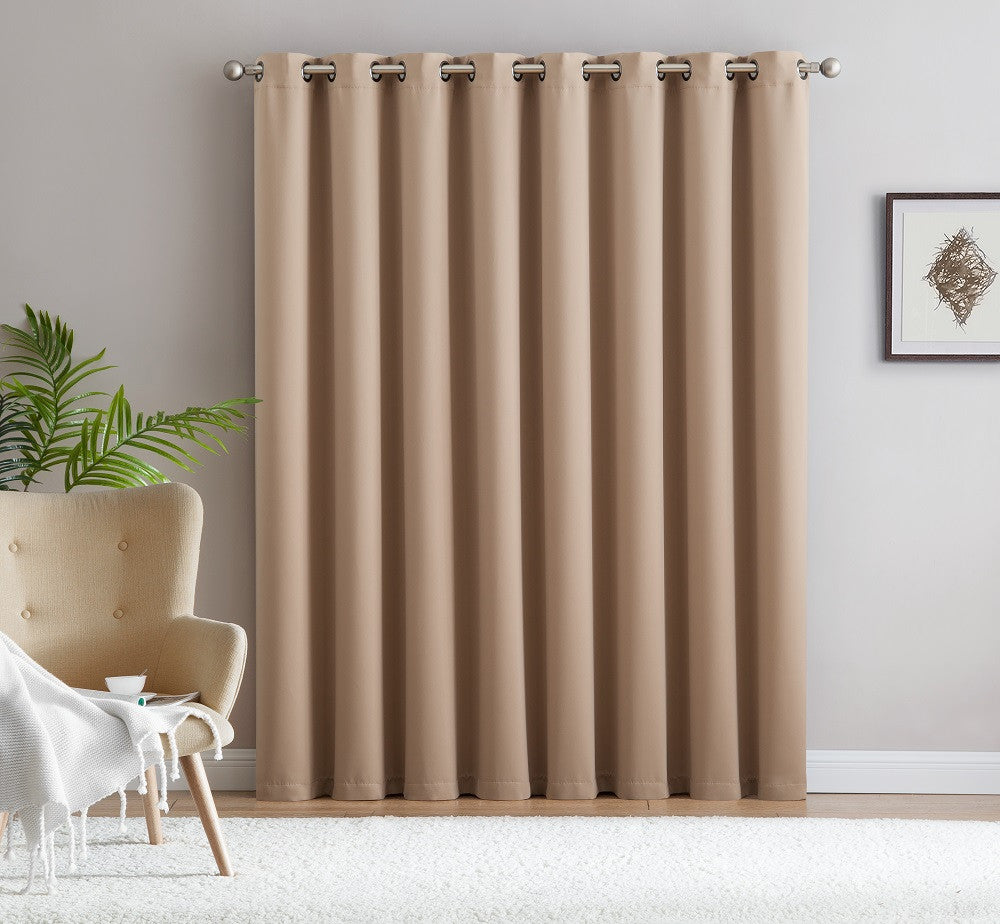 "Warm Home Designs Extra-Wide Blackout 102"" Taupe Patio Door Curtains"