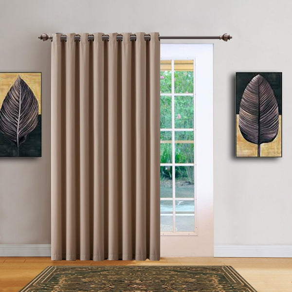 "Warm Home Designs 102"" Wide Taupe Room Dividers & Patio Door Curtains"