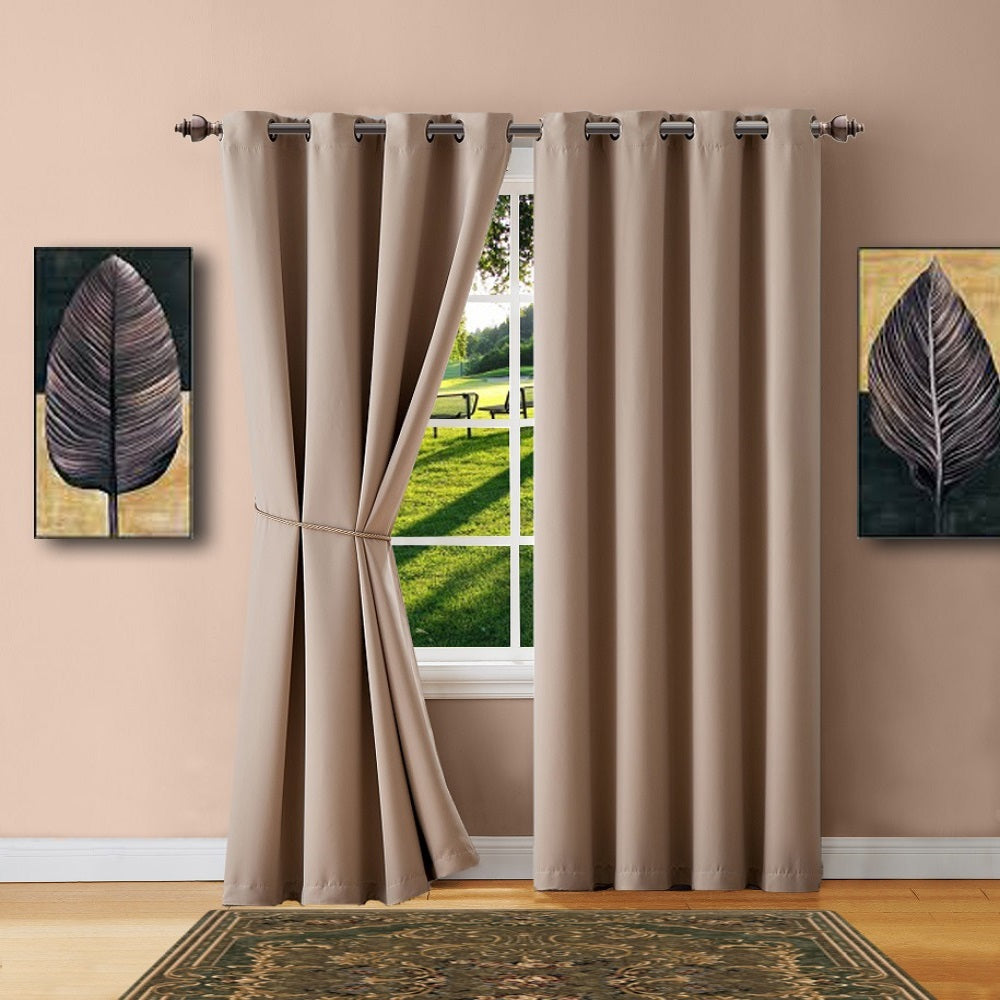 Warm Home Designs Navy Blackout Curtains, Valance Scarves, Tie Backs ...