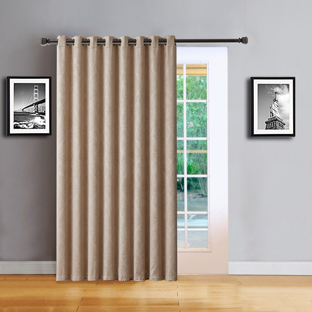 Love the Look and Feel of Your Curtains - Save on Warm Home Designs Embossed Textured Insulated Energy Efficient Taupe (Dark Beige) Blackout Curtains in 9 Sizes