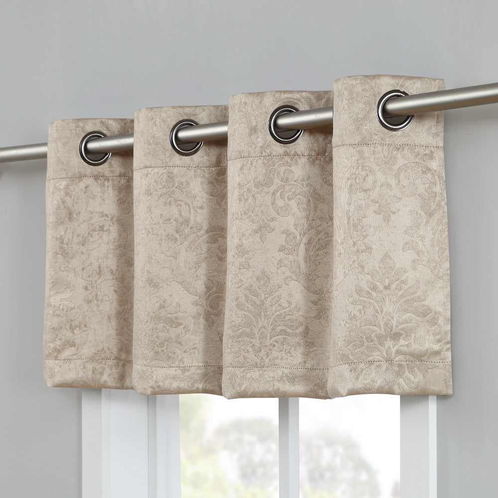 Warm Home Designs Embossed Textured Blackout Energy Efficient Taupe (Dark Beige) Curtains in 12 Sizes