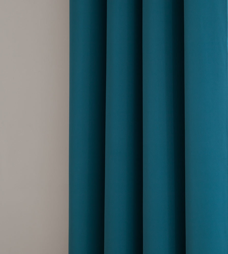 Warm Home Designs Pair of 2 Teal Room Darkening Curtains with 2 Tie-Backs in 63, 84, 96 & 108 Inch Length