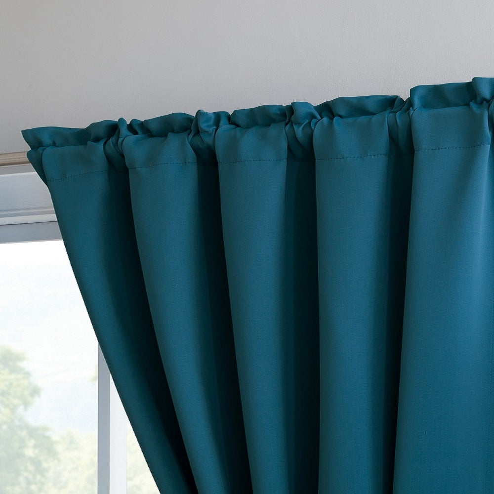 "Warm Home Designs Pair of 54"" Blue Teal Blackout Panels with Insulated Lining & 2 Tie-Backs. Blackout Curtains Available in 63, 84, 96 & 108 Inch Length."