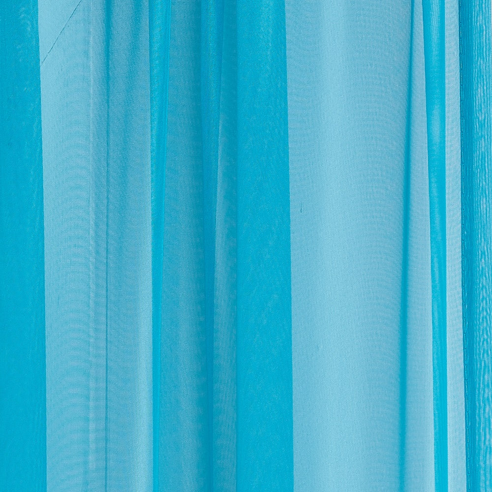 Warm Home Designs Pair of Turquoise Blue Sheer Curtains or Extra Long Window Scarf