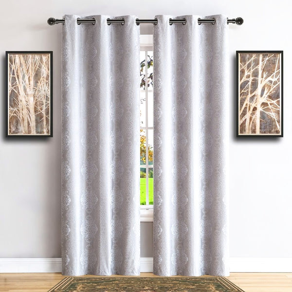 Warm Home Designs 100% Blackout White Insulated Curtains in 4 Sizes