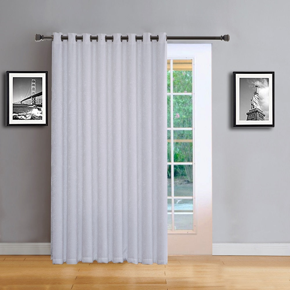 "Love the Look and Feel of Your Curtains - Save on Warm Home Designs Embossed Textured Insulated Energy Efficient White Room Darkening Curtains in in 11 Sizes from Small 38"" x 63"" Pairs, to Sliding Patio Door Curtains, to Giant Pairs of 108"" by 108"" Wall to Wall Room Dividing Curtain Drapes."