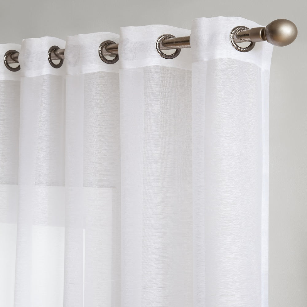 "Affordably Priced 102"" x 84"" or 102"" x 98"" Extra-Wide White Patio Door Curtains. Can also be Used as Sliding Door Drapes, Extra Large Curtains or Room Dividers."