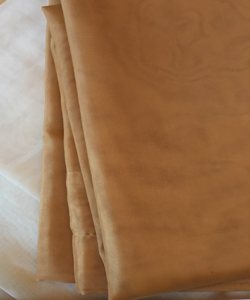 Warm Home Designs Pair of Caramel Gold Sheer Curtains or Extra Long Window Scarf