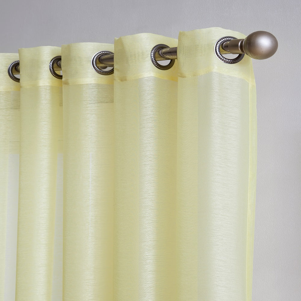 102 Extra Wide Sheer Lime Yellow Patio Door Curtains Or Room