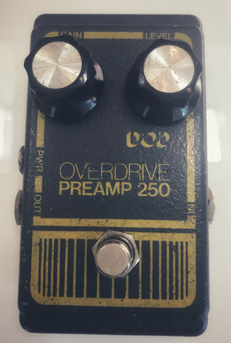 Vintage Grey DOD Overdrive Preamp 250 - Used by Yngwie Malmsteen