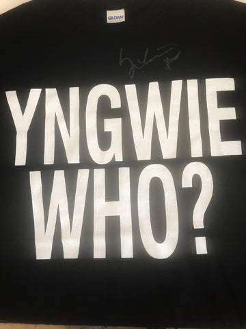 Signed Yngwie Who T-Shirts