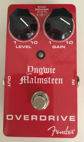 Yngwie Malmsteen Overdrive Pedal - Signed by Yngwie Malmsteen