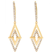 Aegis Double Triangle Earrings