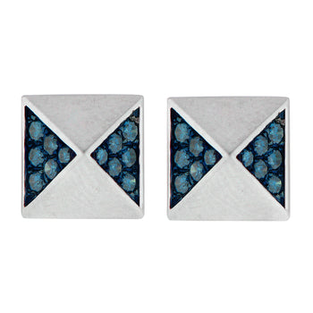 Aegis Blue Diamond Pyramid Studs