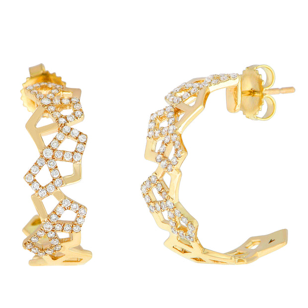 Aegis Gold Honeycomb Earrings
