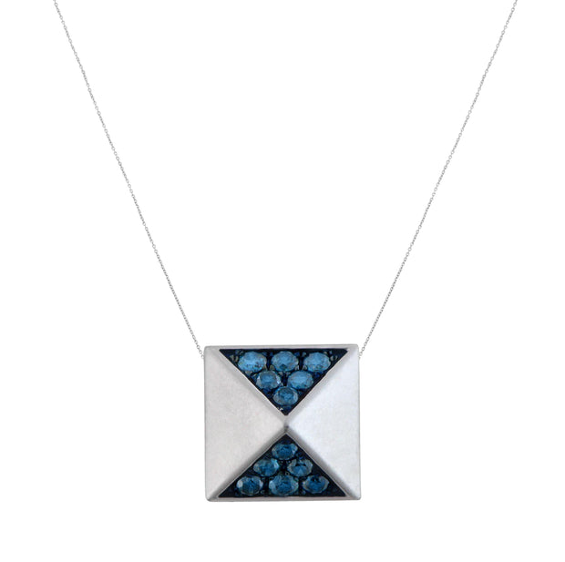 Aegis Blue Diamond Pyramid Pendant
