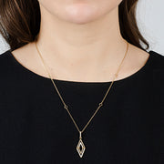 Aegis Double Triangular Pendant