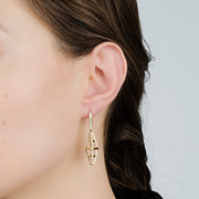Aegis Studded Pillar Earrings