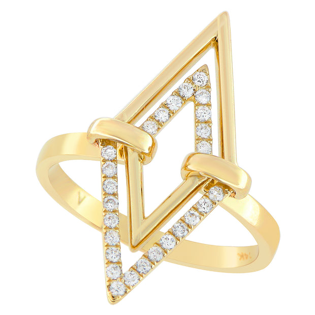 Aegis Double Triangle Diamond Ring