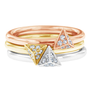 Aegis Stacked Pyramid Ring