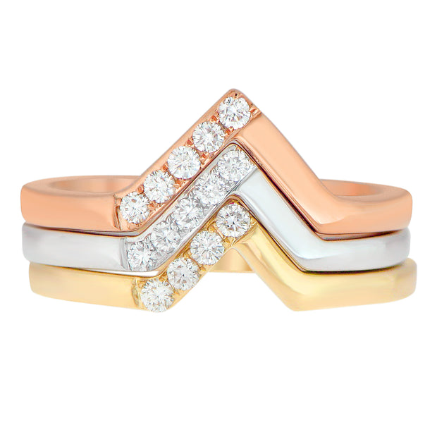 Aegis Stackable Gold and Diamond Ring
