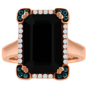 Framed Black Onyx Cocktail Ring