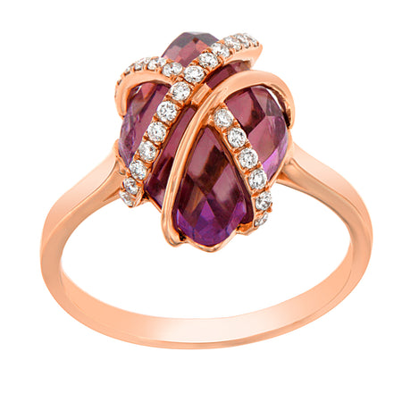 Double Wrap Amethyst Cocktail Ring